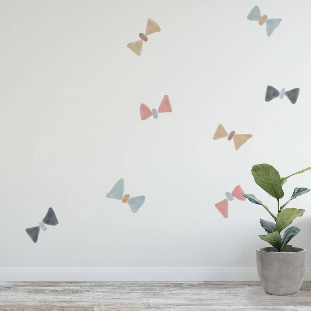 Watercolour butterflies as wall decals.