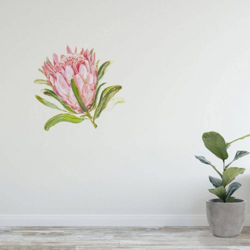 Protea flower wall decal detail