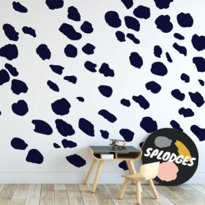 Dark navy Splodges as wall decals.