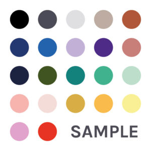 Sample pack of wall decal colours.