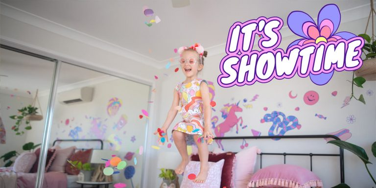 It's Showtime wall decals by Kenzie Collective and Ellie Whittaker.
