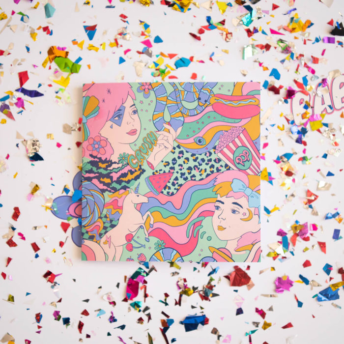 Kenzie Collective and Ellie Whittaker collaboration greeting card.