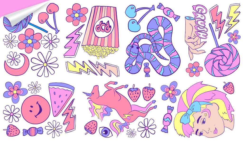 Kenzie Collective and Ellie Whittaker collaboration of wall decals.